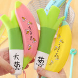 Fertigung-Preis-Knoblauch-Bananen-geformter beweglicher Silikon-Bleistift-Kasten/Kasten