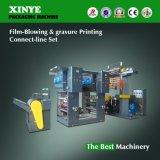 Máquina de impressão do sopro e do Gravure da película