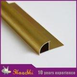 Perfiles de aluminio Polished de oro del ajuste del azulejo