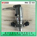 Opération pneumatique en acier inoxydable Ss316L Vannes à échantillon Aspetic