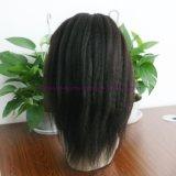 pelucas llenas rectas rizadas del cordón del pelo humano de las pelucas del frente del cordón del cordón del grado 8A del pelo humano de las pelucas del pelo indio lleno de la Virgen para las mujeres negras