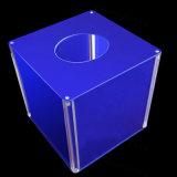 Rectángulo de acrílico de la donación del cubo, rectángulo de balota, rectángulo de sugerencia
