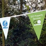 La cadena durable de la alta calidad respetuosa del medio ambiente señala el empavesado por medio de una bandera para la decoración