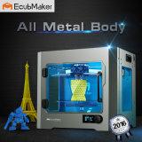 Ecubmaker 탁상용 3D 인쇄 기계, 금속 프레임 Structur 의 낙관한 구조 플래트홈은 TPU와 PLA 의 아BS로, 작동한다