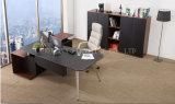 Neues hölzernes Leder Belüftung-moderner Büro-Schreibtisch (V18A)