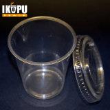 WegwerfPP/Pet höhlt freies transparentes kaltes Plastikcup mit Kappe