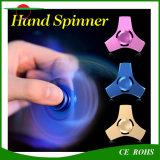 Hilandero sensorial del metal del cabrito de los adultos de la tensión de la ansiedad del juguete de la aleación de aluminio del nuevo de la persona agitada del hilandero del escritorio de la tensión del dedo de la vuelta de giro de la tapa del EDC hilandero anti de la mano