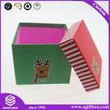 Contenitore impaccante di cartone quadrato su ordinazione per natale