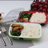 Mittagessen-Kasten, Nahrungsmittelbehälter, Wegwerfnahrungsmittelbehälter mit Kappe