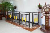 Barandilla de acero galvanizada decorativa de alta calidad 21 del balcón de la aleación de Haohan Alluminum