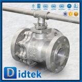 Didtek API 6D Flansch des Edelstahl-CF3m beendet 3 Möglichkeits-Kugelventil