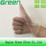 Polvo de limpieza azul libre y polvo de guantes desechables de PVC con trabajo en casa