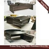 (HX-5DE171) Meubles de bureau en bois de Tableau de bureau exécutif d'aile de tailles importantes