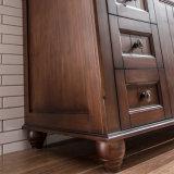 Шкаф ванной комнаты горячего надувательства США самомоднейший тонкий белый деревянный (GSP9-010)