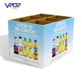 Caja de presentación de la paleta de la cartulina de la alta capacidad para las bebidas