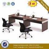 Walnuss-Büro-Tisch-moderner Stab-Computer-Schreibtisch mit Untersatz (HX-6M114)