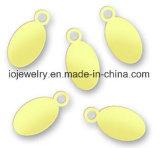 Modifiche ovali d'argento dell'incisione su ordinazione