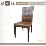 Hotel de couro do plutônio da parte traseira elevada que janta a cadeira (JY-F12)