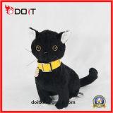 Juguetes negros lindos rellenos suaves del gato de la felpa del gato