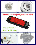 3 horas venden al por mayor el proyector del LED, kit Emergency de la conversión de Downlight