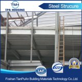 2개의 지면 Prefabricated 강철 구조물 목조 가옥 건물