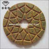 Almofada de polonês de pedra concreta seca molhada do assoalho do diamante do metal da resina