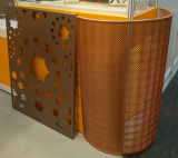 Design islamique Panneau d'aluminium perforé en façade en aluminium