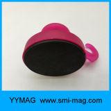 Het rubber bedekte de Sterke Haken van de Magneet van het Neodymium, ultra Op zwaar werk berekende Magnetische Haak met een laag