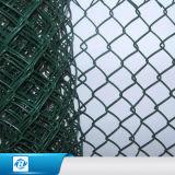 """Cerca revestida da ligação Chain do PVC do tamanho engranzamento do furo 2 do diamante de """""""