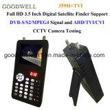 """3.5 """" prova satellite del segnale di sostegno DVB-S2/MPEG-4 del cercatore di Digitahi"""