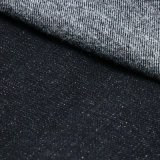 Tela viscosa da sarja de Nimes do Spandex do algodão preto da novidade