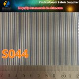 Tela teñida pronto de la raya de los hilados de polyester de las mercancías para la guarnición de la chaqueta (S44.170)