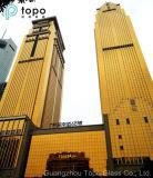 Vidrio de hoja amarillo cristalino del flotador para la decoración de oro del edificio (CY)