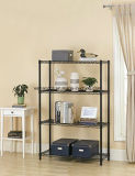 Black Light Duty Metal Storage Shelf Rack (LD9035137A4E)