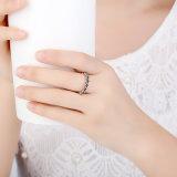 여자 꽃 우아 쌓을수 있는 보석 반지를 위한 새로운 도착 925 순은 반지
