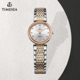 Vigilanza Analog 71093 del quarzo di qualità dell'acciaio inossidabile dell'orologio del braccialetto a cristallo svizzero delle signore