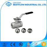 Válvula de esfera rosqueada do aço inoxidável da alta qualidade 1PC 316