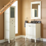 Fed-1825 escolhem o gabinete curvado da vaidade do banheiro da porta da madeira contínua do dissipador