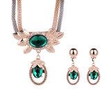 Modo di cristallo 2 PCS &#160 stabilito della collana dell'orecchino Pendant del Rhinestone; Monili