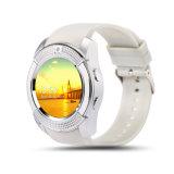 2017 reloj elegante de Bluetooth de la venta Mtk6261 Bluetooth 3.0 del reloj de V8 de la tarjeta elegante androide caliente del soporte SIM