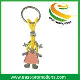 Trousseaux de clés faits sur commande de couples de modèle de fille en métal pour des cadeaux de promotion pour