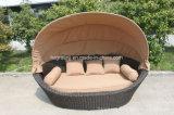 Мебель Sunbed круглой кровати пляжа Daybed ротанга напольная