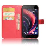HTCの欲求10PROフリップ立場のケースの携帯電話の革カバーのため