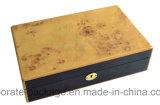Venta al por mayor de madera de encargo de lujo personalizada de la caja de embalaje del reloj