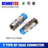 Komprimierung-Typ RG6 F Verbinder