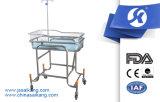 Edelstahl-Rahmen-Metallbaby-Krankenhaus-Bett
