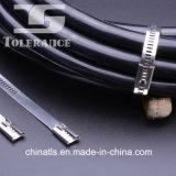 Ss316, tipo ataduras de cables de la escala del acero inoxidable 304