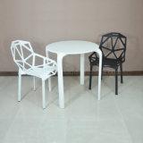 Tabela e cadeira plásticas brancas por atacado redondas ao ar livre (SP-CT348)