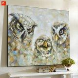 Pintura de lona de algodón cuadro de la pared del búho El Petróleo Familia