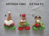 Милое украшение Gift-2asst. дома снеговика мешковины